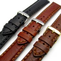 Napoli Luxury Heavy Stitched Padded Leather Watch Strap 18mm 20mm 22mm 24mm D013